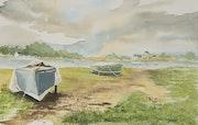 La rivière d'Auray. Vincent Bourdin