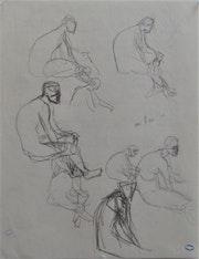 Marie Laurencin : études d'hommes nus. Historien d'art, Archéologue; Chercheur Free-L.