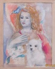 Marie Laurencin : élégante à l'oiseau & au chien. Historien d'art, Archéologue; Chercheur Free-L.