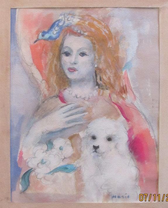 Marie Laurencin : élégante à l'oiseau & au chien. Marie Laurencin, Cherchant Sa Voie. Historien d'art, Archéologue; Chercheur Free-L.