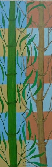 La bambous là.