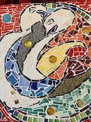 Cygnes en mosaique. Jean Luc Seneca