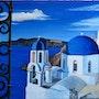 Fenêtre sur Santorin. Pierre Monsinjon
