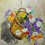Cistella amb flors. Imma Banet Illa