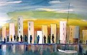 Promenade au port. Bernard Courtalon