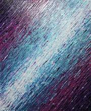 Reliefmalerei : Messerbeschaffenheit weiß blau rosa lila..