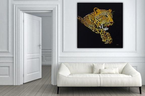 Leopard in Acryl Farbe auf Leinwand. Wolfgang Bröder Wolfgang Bröder