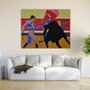 Stierkampf in Acryl Farbe gemalt auf leinwand. Acrylwolle