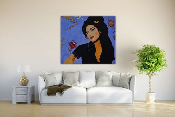 Amy Winehouse. Wolfgang Bröder Acrylwolle