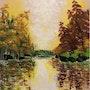 L'automne doré au lac. Kate_Art
