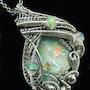 Raw Ethiopian Desert Opal Wire-Wrapped Pendant with Welo Opals. Heather Jordan Jewelry