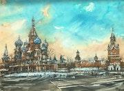 La Place Rouge en hiver.