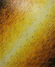 Peinture relief : Texture couteau blanc jaune..
