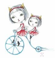 Bicyclette bleue. Kiyoko