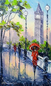 Rain in London. Olhadarchukart