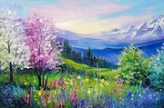 Spring at the Alps. Olhadarchukart