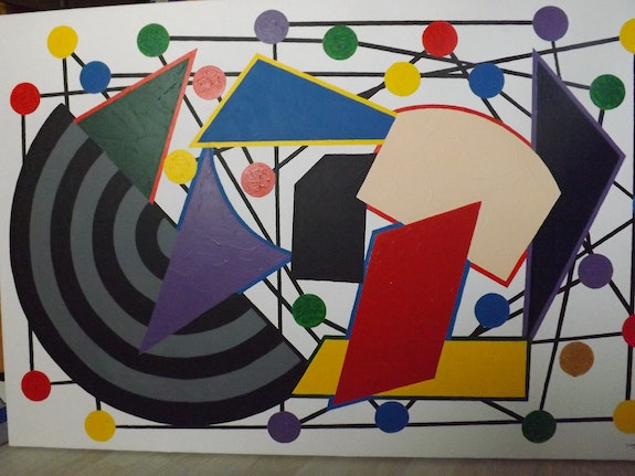Tableau geometrique. Georges Wagner Georges Wagner