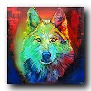 Gemälde «colorful lupus».