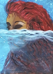 Woman in the Water Part 2, Woman Wall Art. Gail Francis