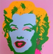 Andy warhol marilyn monroe sunday b morning silkscreen print #7.