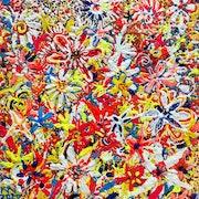 Fleurs multicolors. Art Natalia Kuruch