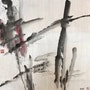 Au 8 - Pond - Original Abstract Chinese Ink Painting On The Rice Paper. Zhongwu 仲吾