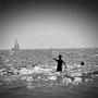 La mer en Camargue. Marylou