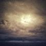Plage de Mimizan - la tombée de la nuit, l'horizon la mer, le ciel. Marylou