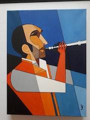 Le musicien à la flûte….