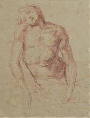 Homme endormi ou mourant (étude de… ). Historien d'art, Archéologue; Chercheur Free-L.