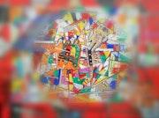 «Space stained glass» Gvarez/Glenn Varez/travail 2020. Gvarez