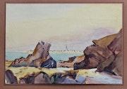 St-Malo vue de Dinard à marée basse.. Historien d'art, Archéologue; Chercheur Free-L.