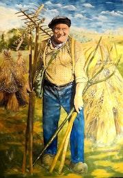 Fier d'être paysan (autoportrait). Christian Pacaud