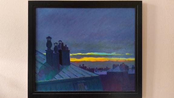 Les toits de Paris avec coucher de soleil. Martin Romo Antonio Antonia Martin Romo Antonia