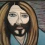 L'acteur qui joue (les acteurs qui jouent) Jésus. Evelyne Patricia Lokrou