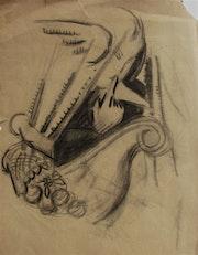 Anonyme (f. Léger? Atlan? ) : Recherche d'artiste ?. Historien d'art, Archéologue; Chercheur Free-L.