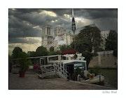 Orage sur Notre-Dame de Paris.