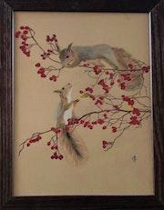 Causette entre écureuils. Tiffanie Daubié