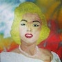 Marilyn Monroe painted in acrylic on canvas. Acrylwolle