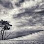 Un été - La dune du Pilat avant l'orage. Marylou