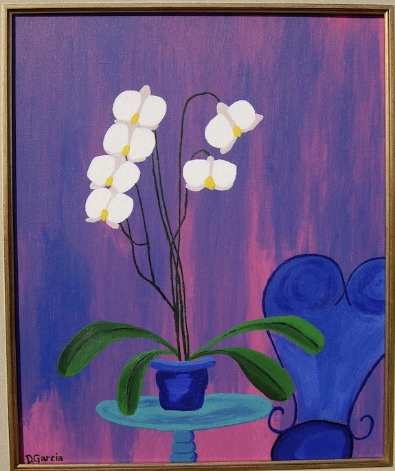 Peinture acrylique d'un eucalyptus. Garcia Daniel Daniel Garcia