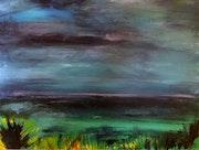 Clair de lune sur l'étang.