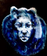 Shamanic transformation into bear.