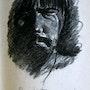 L'homme qui pleure (d'après une photo d'Eric Bertrand). Jacques Dortel