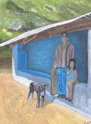 «Niños de tío Juan» óleo sobre tela. Leon Xlll