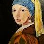 La jeune fille à la perle de Vermeer. Ilham Balarh