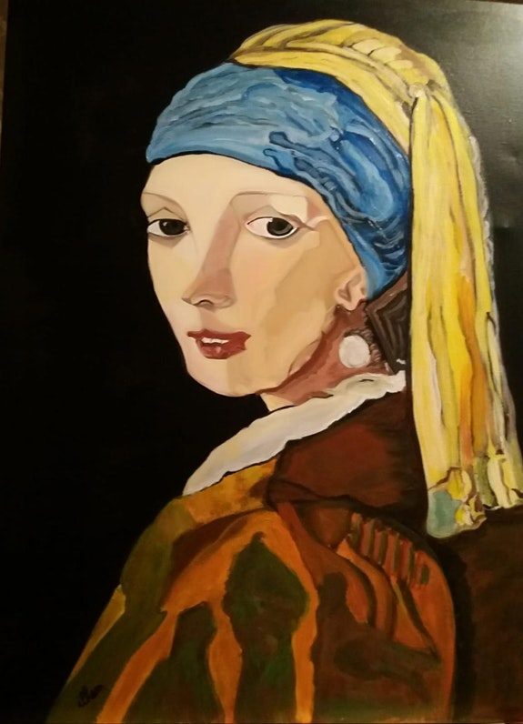 La jeune fille à la perle de Vermeer. Balarh Ilham Ilham Balarh