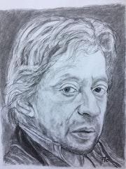 Portrait de Serge Gainsbourg d'après Florence Quesnel. Flo