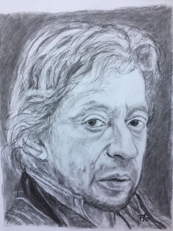Portrait de Serge Gainsbourg d'après Florence Quesnel. Florence Quesnel Flo