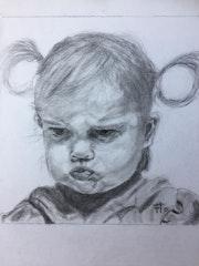 Portrait d'enfant d'après Florence Quesnel. Flo